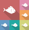 Icon of fish vector image vector image