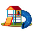 isolated playground house on white background vector image vector image