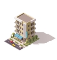 isometric restaurant building vector image vector image