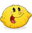 lemon cartoon character vector image vector image