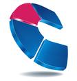logo c blue vector image vector image