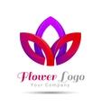 Lotus Logo flower Beauty Fashion template vector image vector image