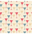martini glass seamless pattern vector image