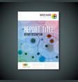 modern abstract microscopy brochure template vector image