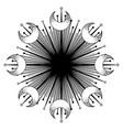 moon frame sacred geometry ayurveda symbol of vector image vector image