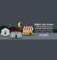 night city street banner horizontal concept vector image vector image