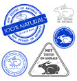 Not tested on animals stamp vector | Price: 1 Credit (USD $1)