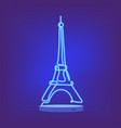 one line eiffel tower design silhouette vector image vector image