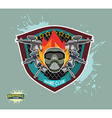 paintball logo paintball guns Evil paintball mask vector image vector image