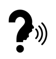 Question mark with human face vector image