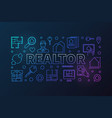 realtor colored outline or vector image vector image