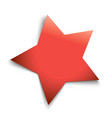 red five-pointed star casts a soft shadow vector image vector image