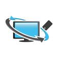 reseller desktop pc logo icon vector image vector image