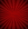Retro Red Sunburst Poster vector image vector image