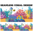 Seamless coral reef under the ocean vector image
