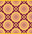 seamless hand drawn mandala pattern for printing vector image