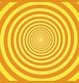 spiral rays pop art retro background vector image vector image