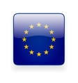 Square icon with flag of the European Union vector image vector image
