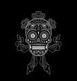 stencil decorative sugar skull pattern vector image vector image