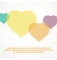 Striped heart vector image