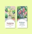 summer plants flyer template design vector image vector image