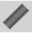 Transparent tire track vector image