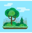 tree in the park vector image