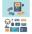 video game console joystick gamepad cartridge vector image