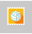 Volleyball flat stamp with long shadow vector image