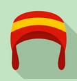 warm winter hat icon flat style vector image vector image