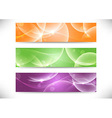 Web transparent headers collection vector image