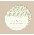 wedding invitation card round vector image vector image