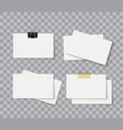 blank corporate identity package business card vector image