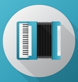 Flat icon for blue accordion vector image