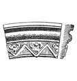 gothic architecture ornaments arch moulding vector image
