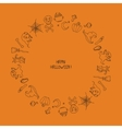 beautiful frame Happy Halloween Pattern with vector image