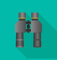 binoculars flat icon with long shadow vector image