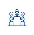 board of directors line icon concept board of vector image vector image