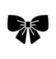 bow decor element black icon concept vector image