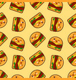 burger seamless pattern with cute fast vector image vector image