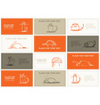 Business cards with cats sketch for your design vector image vector image