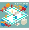 Business game vector image