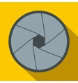 Camera aperture icon in flat style vector image vector image