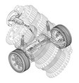 car suspension and gear mechanism on a white vector image
