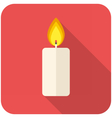 Christmas candle icon vector image vector image