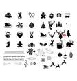 christmas icons and elements set vector image