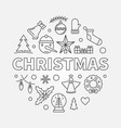christmas round made with vector image vector image