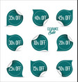 collection of paper sale stickers vector image vector image