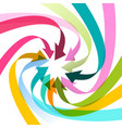 colorful arrows spiral vector image vector image