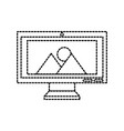 computer screen image gallery album vector image vector image